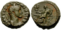 Ancient Coins - Claudius II Gothicus, Egypt Alexandria Billon Tetradrachm / Dikaiosyne Seated