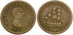 World Coins - Canada. Nova Scotia Æ Halfpenny Token