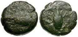 Ancient Coins - Ionia. Samos Æ8 / Galley & Amphora