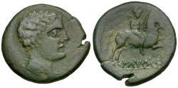 Ancient Coins - Spain. Iberia. Laietans. Ilterkesken Æ27 / Horseman
