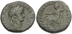 Ancient Coins - Nero (AD 54-68) Egypt. Alexandria Billon Tetradrachm / Nero Seated
