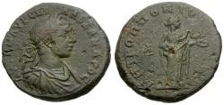 Ancient Coins - Severus Alexander. Moesia. Tomis Æ25 / Hygeia Feeding Serpent