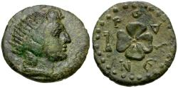 Ancient Coins - Caria. Rhodos Æ17 / Rose