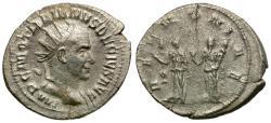 Ancient Coins - Trajan Decius (AD 249-251) AR Antoninianus / Two Pannoniae