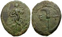 Ancient Coins - Pisidia. Etenna Æ17 / Woman with Snake
