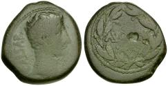 Ancient Coins - Augustus. Asia Minor. Uncertain Mint Æ25 / AVGVSTVS in Wreath