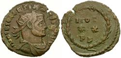 Ancient Coins - Diocletian (AD 284-305) Radiate Æ22 / Votive