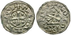 World Coins - France. Count of Rouen. Richard I the Fearless (AD 942 to 996) AR Denier