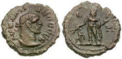 Ancient Coins - Diocletian (AD 284-305) Egypt. Alexandria Æ Tetradrachm / Harpokrates