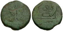 Ancient Coins - 169-158 BC - Roman Republic Anonymous Æ AS / PAE