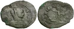 Ancient Coins - Aurelian (AD 270-275) Æ Antoninianus / Sol and Captive
