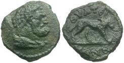 Ancient Coins - Lydia. Thyateira. Pseudo-Autonomous Issue Æ14 / Lion
