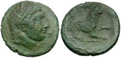 Ancient Coins - Sicily. Syracuse. Agathokles Æ Litra / Lion