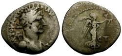 Ancient Coins - Hadrian, Cappadocia Caesarea AR Hemidrachm / Nike