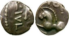 Ancient Coins - Ancient France. Celtic Gaul. Sequani AR Unit / Horse