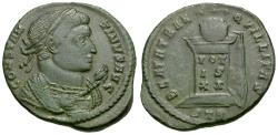 Ancient Coins - Constantine I the Great (AD 306-337) Æ3 / Globe on Altar