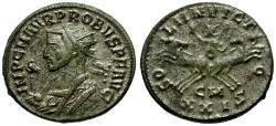 Ancient Coins - aEF/aVF Probus Silvered Antoninianus / Sol in Spread Quadriga