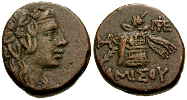 Ancient Coins - VF/VF Pontos, Amisos, Mithradates VI The Great Æ21 / Lockett Collection