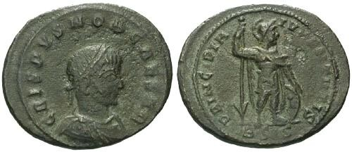 Ancient Coins - F+/aVF Crispus AE / PRINCIPI  R4