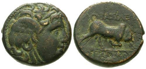 Ancient Coins - aVF/aVF Seleucus I AE / Bull