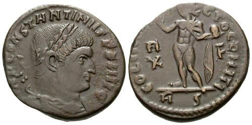 Ancient Coins - VF/VF Constantine I the Great Follis / Sol