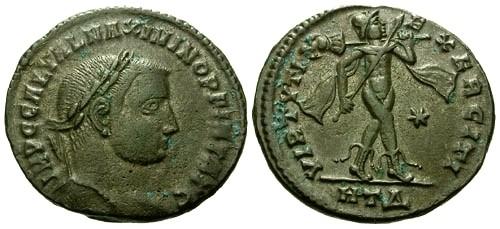 Ancient Coins - VF/VF Maximinus II AE Follis / Maximino INV