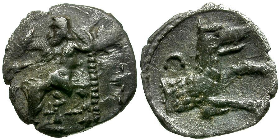 Ancient Coins - Cilicia. Uncertain mint AR Obol / Wolf