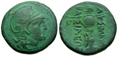 Ancient Coins - VF/VF Thrace Lysimachos Æ21 / Male head / Trophy