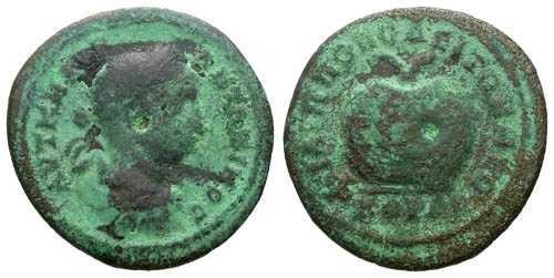 Ancient Coins - F/F Elagabalus AE24 Philippopolis / Urn