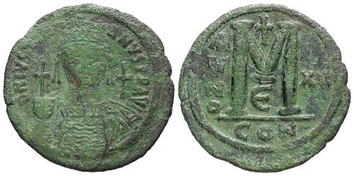 Ancient Coins - aVF/aVF Huge 42mm Justinian I Follis