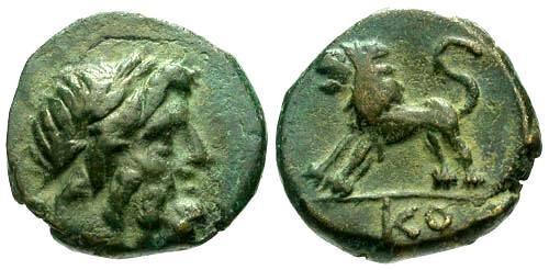 Ancient Coins - VF/EF Pisidia Komana AE14 / Lion