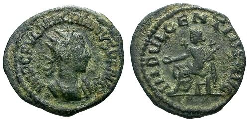 Ancient Coins - aVF/VF Macrianus AE Antoninianus / Indulgentia