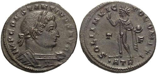 Ancient Coins - EF/EF Constantine the Great / Sol