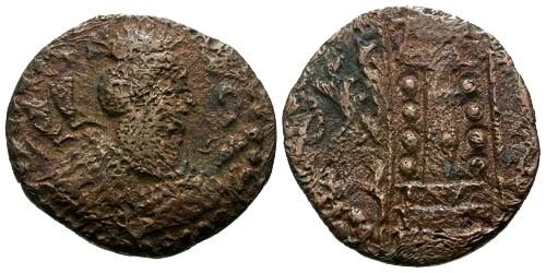 Ancient Coins - VF/VF The Hephthalites Napki Malka AE Hemidrachm White Huns