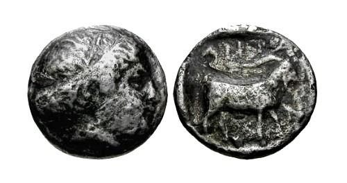 Ancient Coins - aVF/aVF Troas Antandros AR Tetrobol / Artemis and Goat