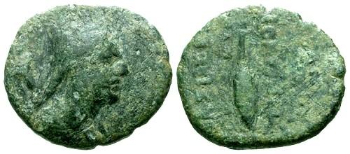 Ancient Coins - aVF/aVF Kings of Armenia Tigranes II AE17 Chalcus / Wheat stalk
