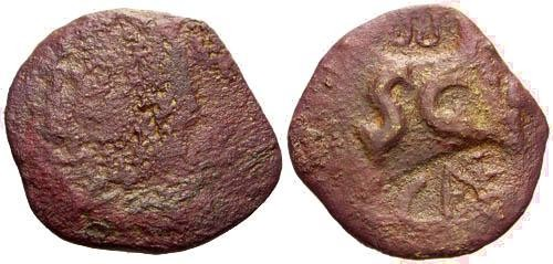 Ancient Coins - Augustus AS counterstamped / Possible Imitation