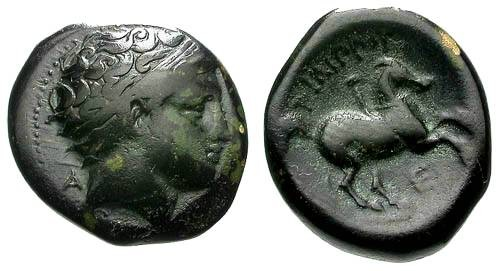 Ancient Coins - F/aF Philip II AE17 / Horse and Rider