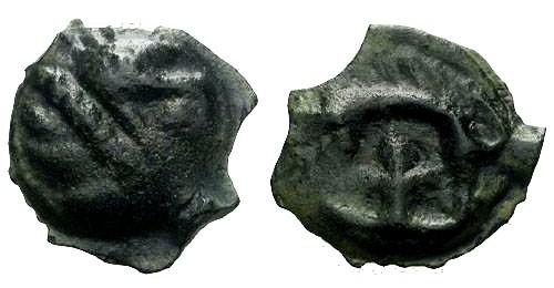 Ancient Coins - EF/EF Leuci Tribe Potin / Boar