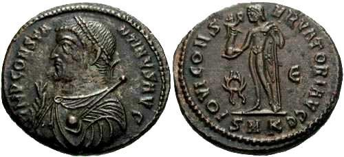 Ancient Coins - EF/EF Constantine The Great AE / Jupiter R1