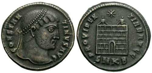 Ancient Coins - VF/VF Constantine the Great Campgate