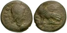 Ancient Coins - Ostrogoths. Municipal Coinage of Rome. Reigns of Theodoric and Athaleric Æ40 Nummi