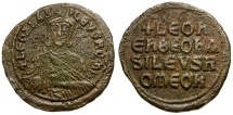 Ancient Coins - Byzantine Empire. Leo VI The Wise Æ Follis