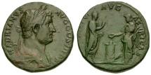 Ancient Coins - Hadrian Æ Sestertius / Africa