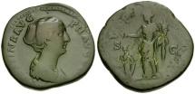 Faustina II Æ Sestertius / Pietas and Child