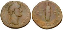 Ancient Coins - Antoninus Pius Æ Sestertius / VOTA