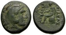Ancient Coins - VF/VF Seleukid Kings of Syria, Seleukos I Nikator Æ17 / Herakles / Apollo