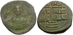 Ancient Coins - *Sear 1823* Byzantine Empire. Anonymous. Class B Æ 31mm Follis