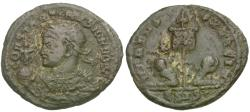 Ancient Coins - Constantine II as Caesar (AD 316-337) Æ3 / Vexillum and Captives