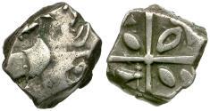 Ancient Coins - Celtic Tribes of Gaul. Volcae Tectosages. Monnaies a la Croix. Cubist type AR Drachm